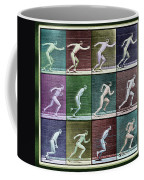 Time Lapse Motion Study Man Running Color Coffee Mug