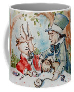 Time The Mad Tea Party 2 Coffee Mug by Carrie Joy Byrnes