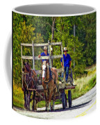 Time Travelers Impasto Coffee Mug