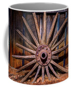 Time Worn Wheel Coffee Mug