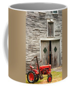 Red Tractor And Old Barn Ossipee New Hampshire Coffee Mug