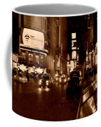 Times Square At Night - In Copper Coffee Mug