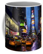 Times Square In The Rain Coffee Mug by Garry Gay
