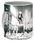 Times Square In The Snow - New York City Coffee Mug