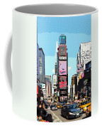 Times Square Nyc Cartoon-style Coffee Mug