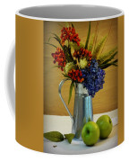 Tin Bouquet And Green Apples Coffee Mug