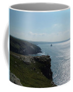 Man On The Edge Tintagel Coffee Mug