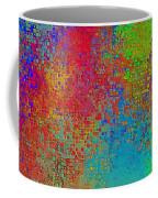 Tiny Blocks Digital Abstract - Bold Colors Coffee Mug