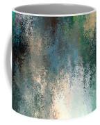Tiny Blocks Digital Abstract - Cool Blues Coffee Mug