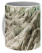 Tiny Man Walks Expansive Alpine Glacier Icefield Coffee Mug