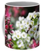 Tiny Pink And Tiny White Flowers 2 Coffee Mug