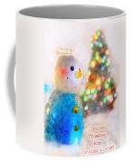 Tiny Snowman Christmas Card Coffee Mug