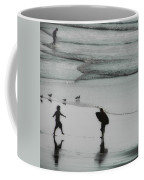 Tip Toe Through The Surf Coffee Mug