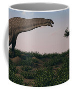 Titanosaurus Standing Grazing In Swamp Coffee Mug