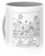 Title: Adam And Eve In The Garden Of Fitness Coffee Mug