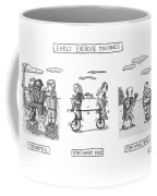 Title: Early Exercise Machines. Three Early Coffee Mug