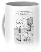 Title: Ecofriendliness Rebuffed. A Man Walks Coffee Mug