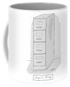 Title: Organic Filing. A File Cabinet Has Drawers Coffee Mug