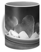 Toast Hearts With Butter Black And White Coffee Mug