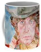 Tom Baker Doctor Who Watercolor Portrait Coffee Mug