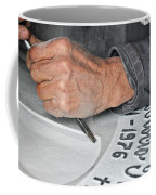 Tombstone Engraver At Work Coffee Mug