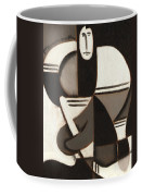 Tommervik Abstract Cubism Hockey Player Art Print Coffee Mug