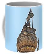 Top Of Stone Pillar In Bhaktapur Durbar Square In Bhaktapur-nepal Coffee Mug