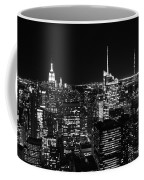 Top Of The Rock In Black And White Coffee Mug