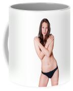 Topless Brunette Coffee Mug