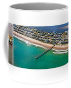 Topsail Island Aerial Panels Coffee Mug