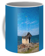 Torekov Beach Hut Painting Coffee Mug