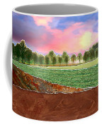 Torn Paper Fields Of Green And Brown Coffee Mug