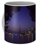 Toronto Skyline At Night Coffee Mug