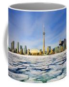 Toronto Skyline In Winter Coffee Mug