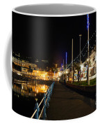 Torquay Victoria Parade At Night Coffee Mug