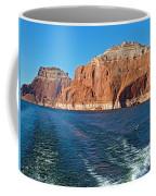 Tour Boat Wake In Lake Powell In Glen Canyon National Recreation Area-utah  Coffee Mug