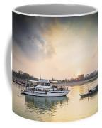 Tourist Boat On Sunset Cruise In Phnom Penh Cambodia River Coffee Mug