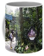 Tourist Doing Photography And Viewing Plants In A Garden Coffee Mug