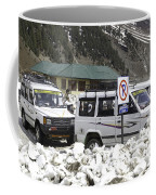 Tourist Vehicles Parked At The No Parking Sign In Sonmarg Coffee Mug