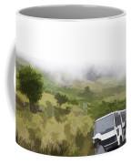 Tourists And Bus Inside The Eravikulam National Park Coffee Mug