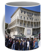 Tourists At Alcatraz Island Coffee Mug