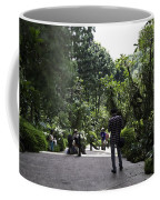 Tourists Inside A Downward Sloping Section In The Orchid Garden Coffee Mug
