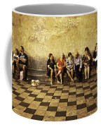 Tourists On Bench - Taormina - Sicily Coffee Mug