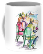 Tourists On The Costa Blanca In Spain Coffee Mug