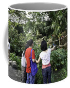 Tourists Viewing The Colorful Birds Coffee Mug