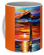 Towards The Sun - Palette Knife Oil Painting On Canvas By Leonid Afremov Coffee Mug