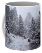 Towards Top Of Bear Peak Mountain During Intense Snow Storm - North Side Coffee Mug