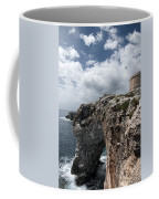 Stunning Tower Over The Cliffs Of Alcafar In Minorca Island - Tower And Sea Coffee Mug