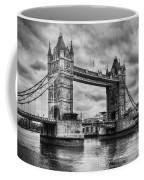 Tower Bridge In London Uk Black And White Coffee Mug