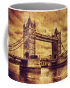 Tower Bridge In London Uk Vintage Style Coffee Mug